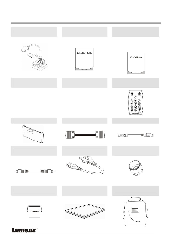 Инструкция по эксплуатации Lumens Technology DC210 Quick