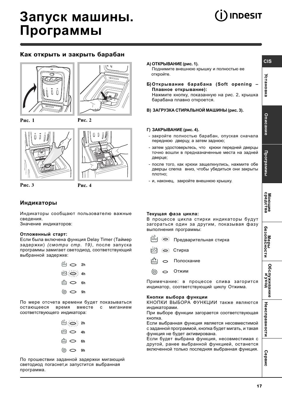Indesit witl 86 инструкция и характеристики к стиральной машине.
