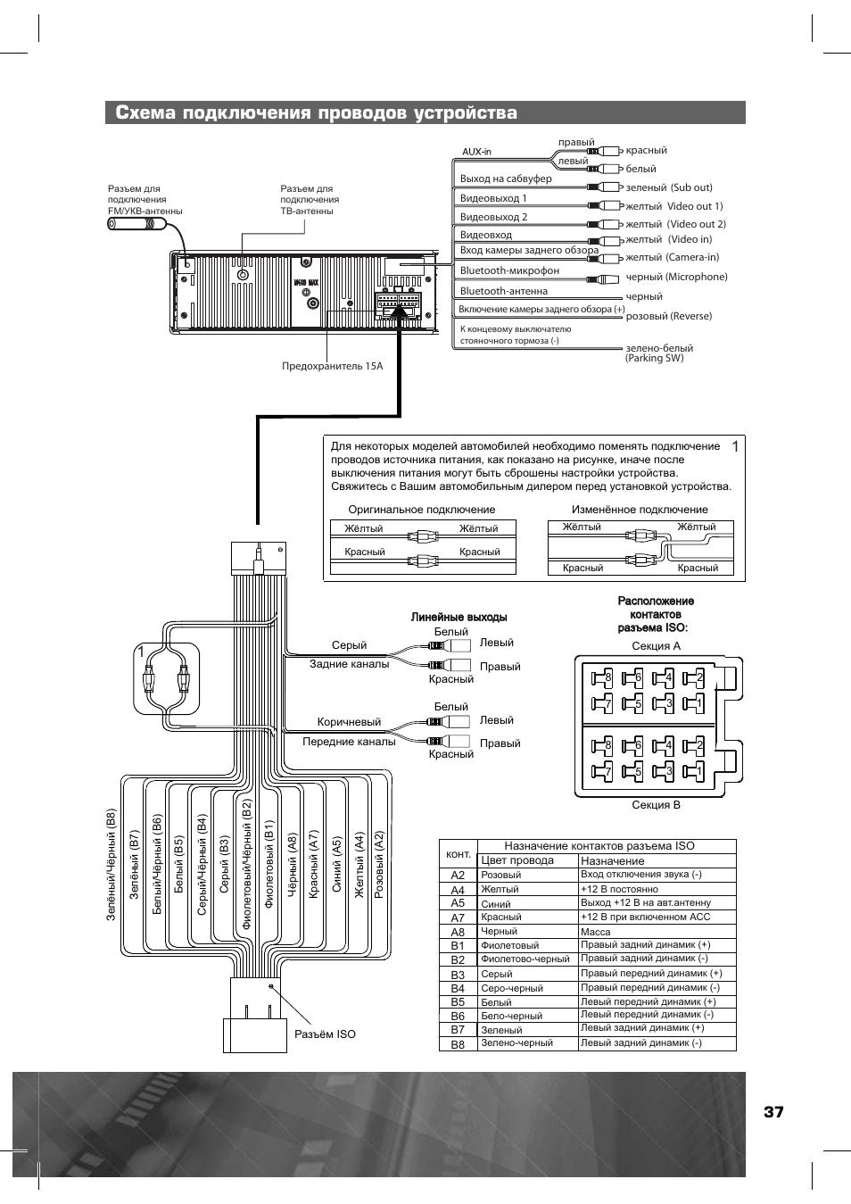 Автомагнитола пролоджи схема подключения 975