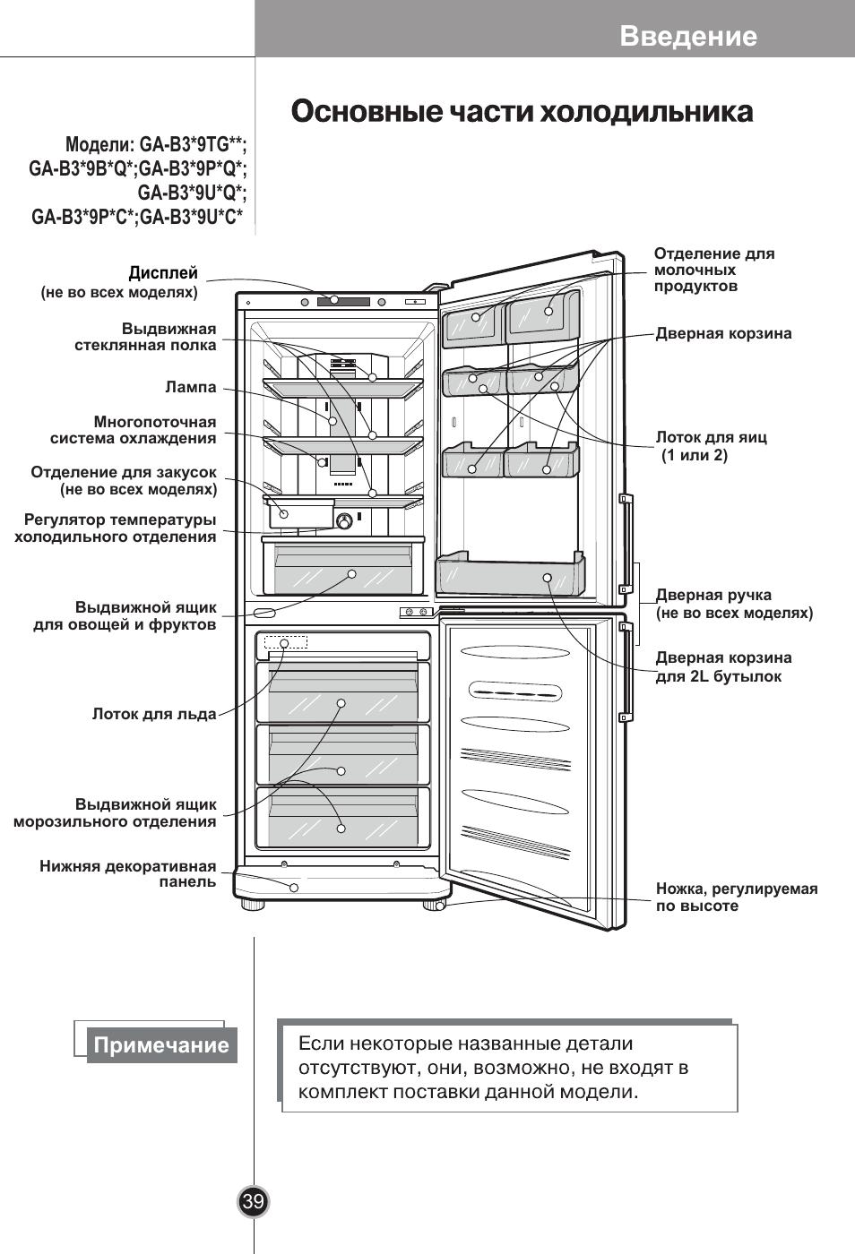 инструкция к холодильнику lg ноу фрост