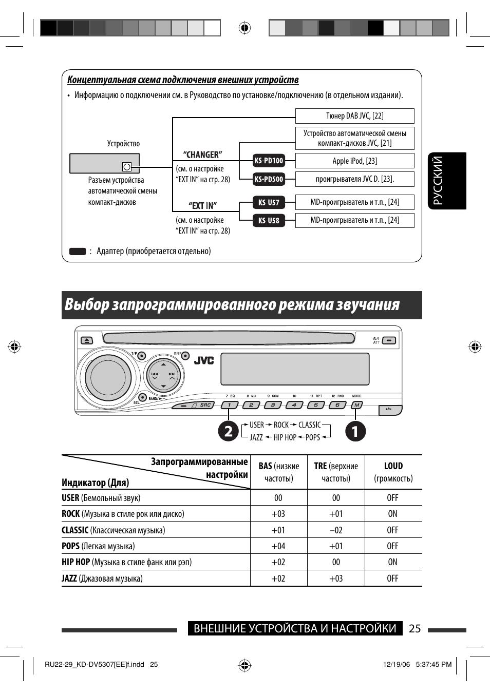 автомагнитола jvc kd dv5307 схема подключения