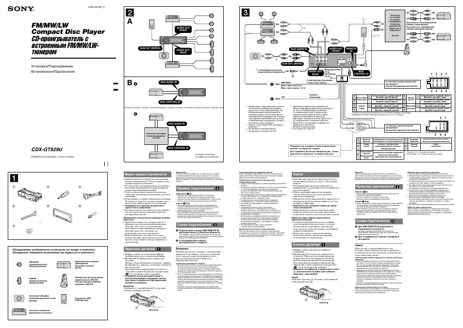 Sony gt200e схема подключения