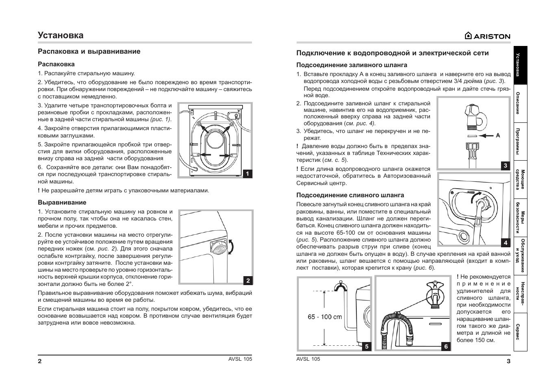 Avsl 105 ariston инструкция