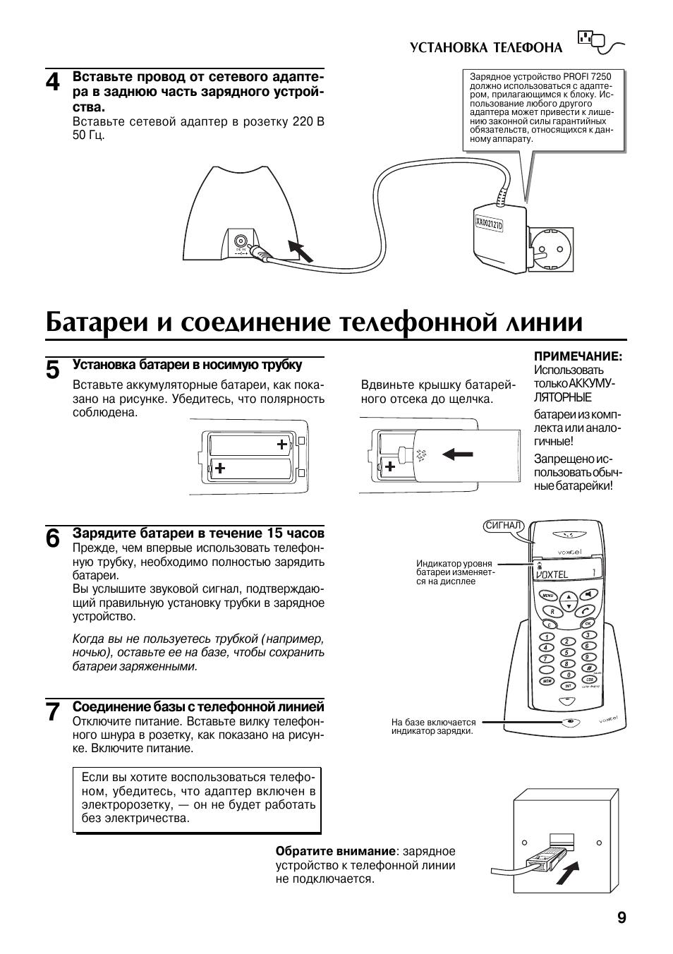 Profi 7250 voxtel инструкция
