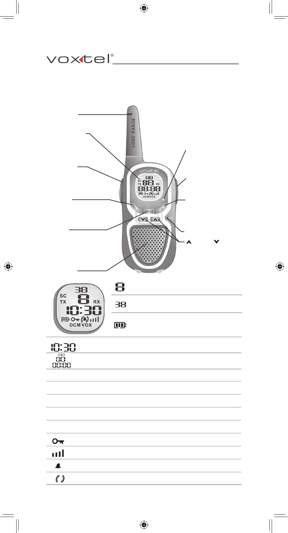Рации Voxtel Mr550 инструкция