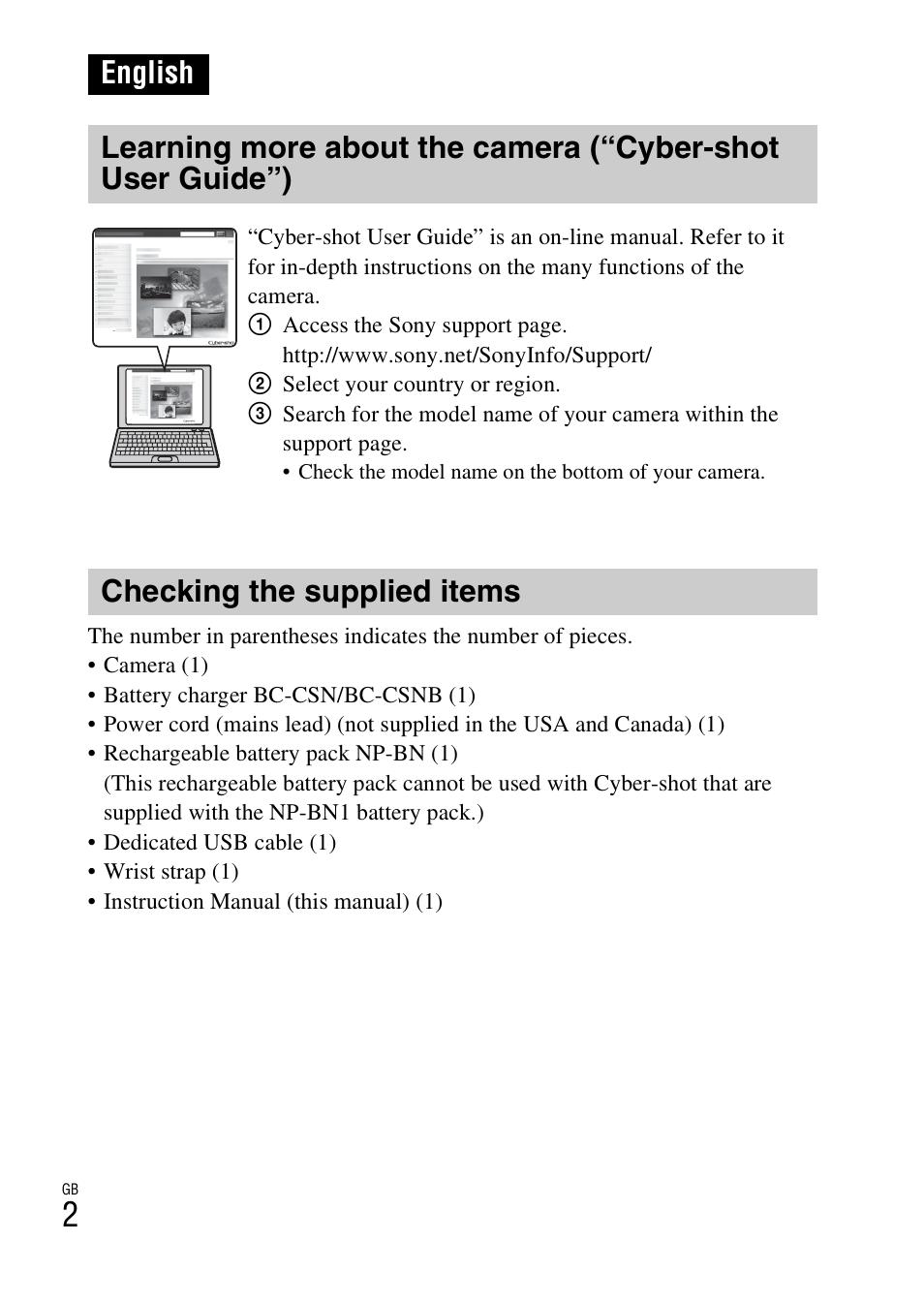 Sony W650 Manual Traxxas Slash 4x4 Parts Breakdown Bing Images Dsc W630 Array English Checking The Supplied Items