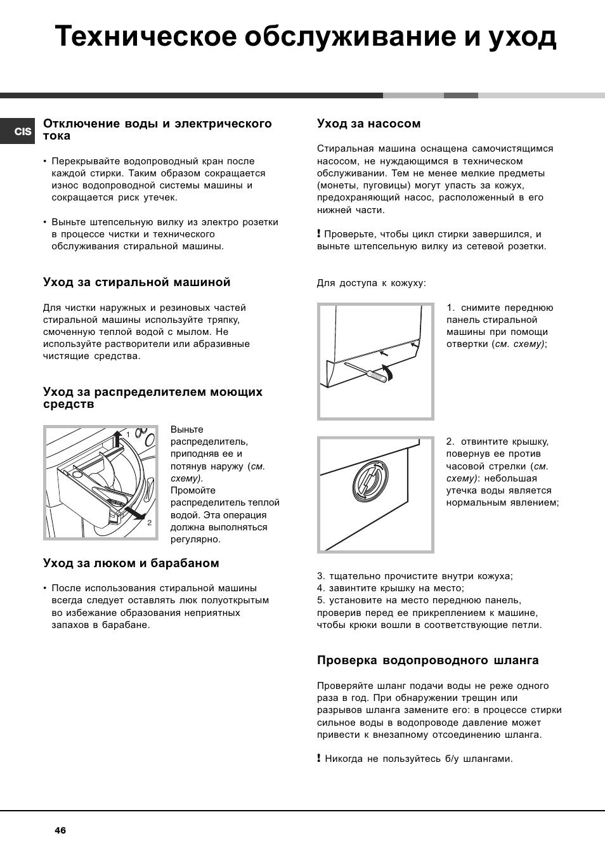 ariston arsl 105 инструкция