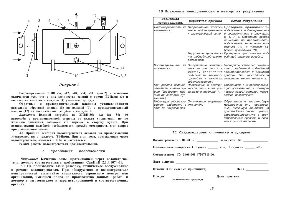 Водонагреватель эпвн-60 схема