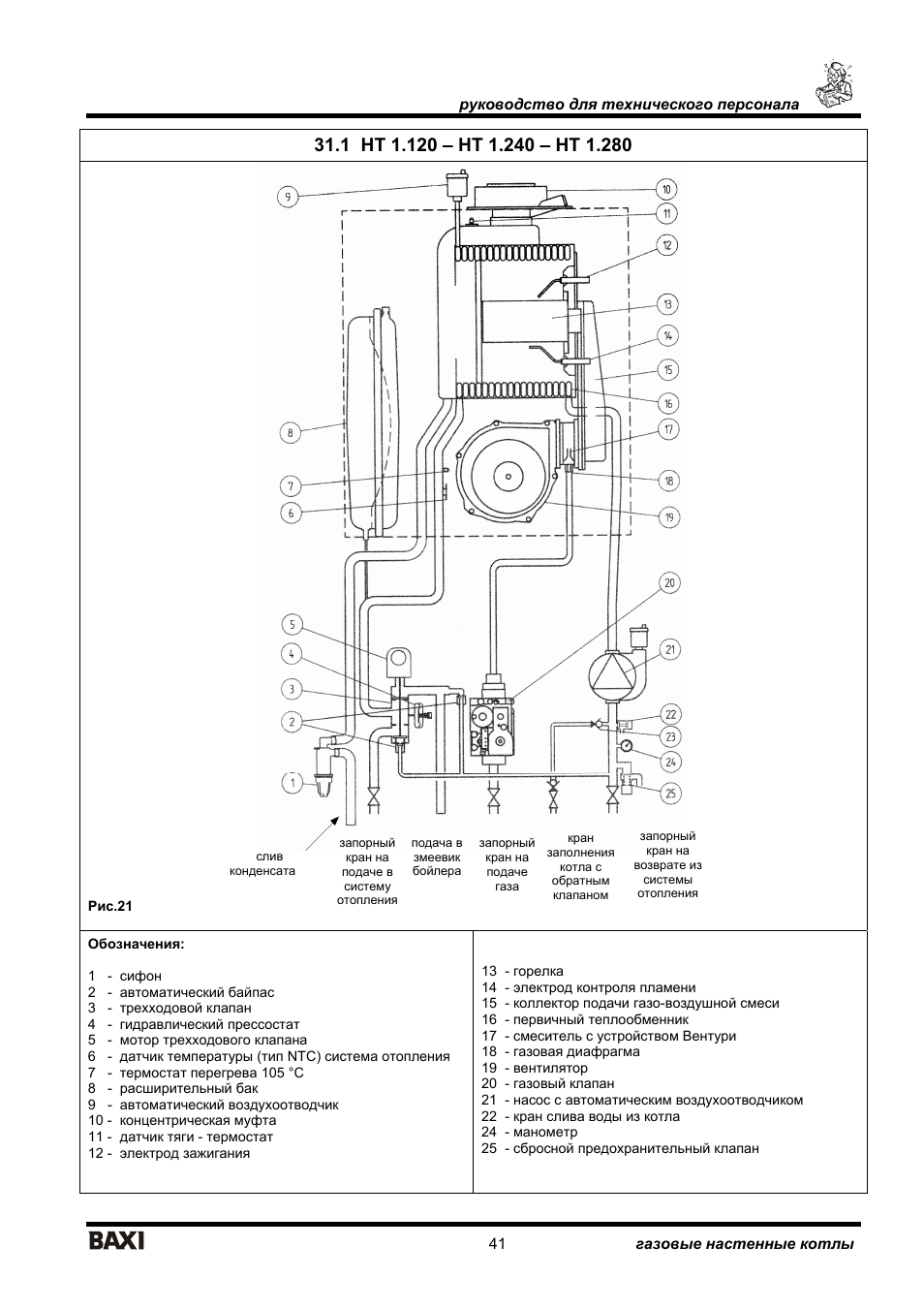 41 for Baxi eco 3 manuale