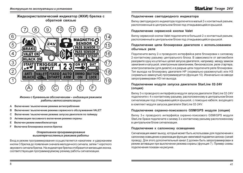 автосигнализация старлайн а91 инструкция по эксплуатации автозапуск