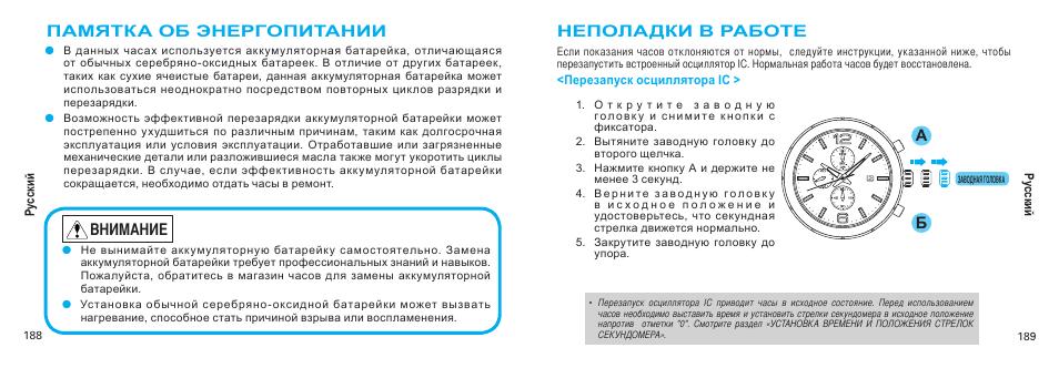Инструкции названы по номерам модулей часов.