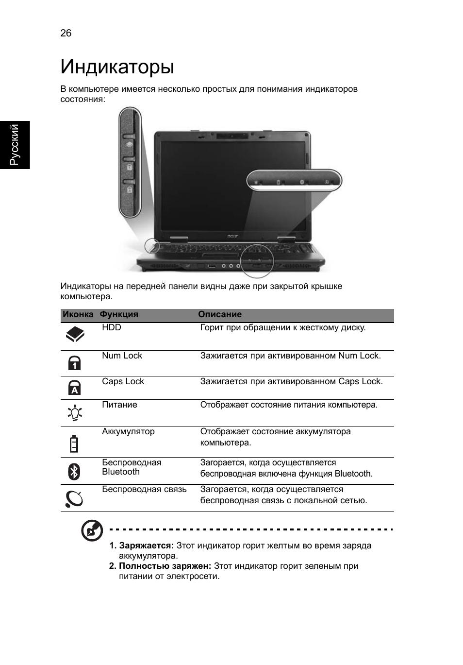 инструкция ноутбук samsung r530