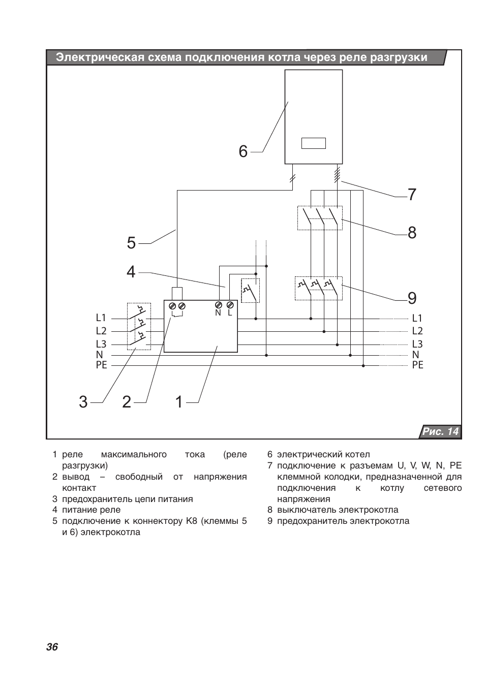 Схема электрическая котла скат 6