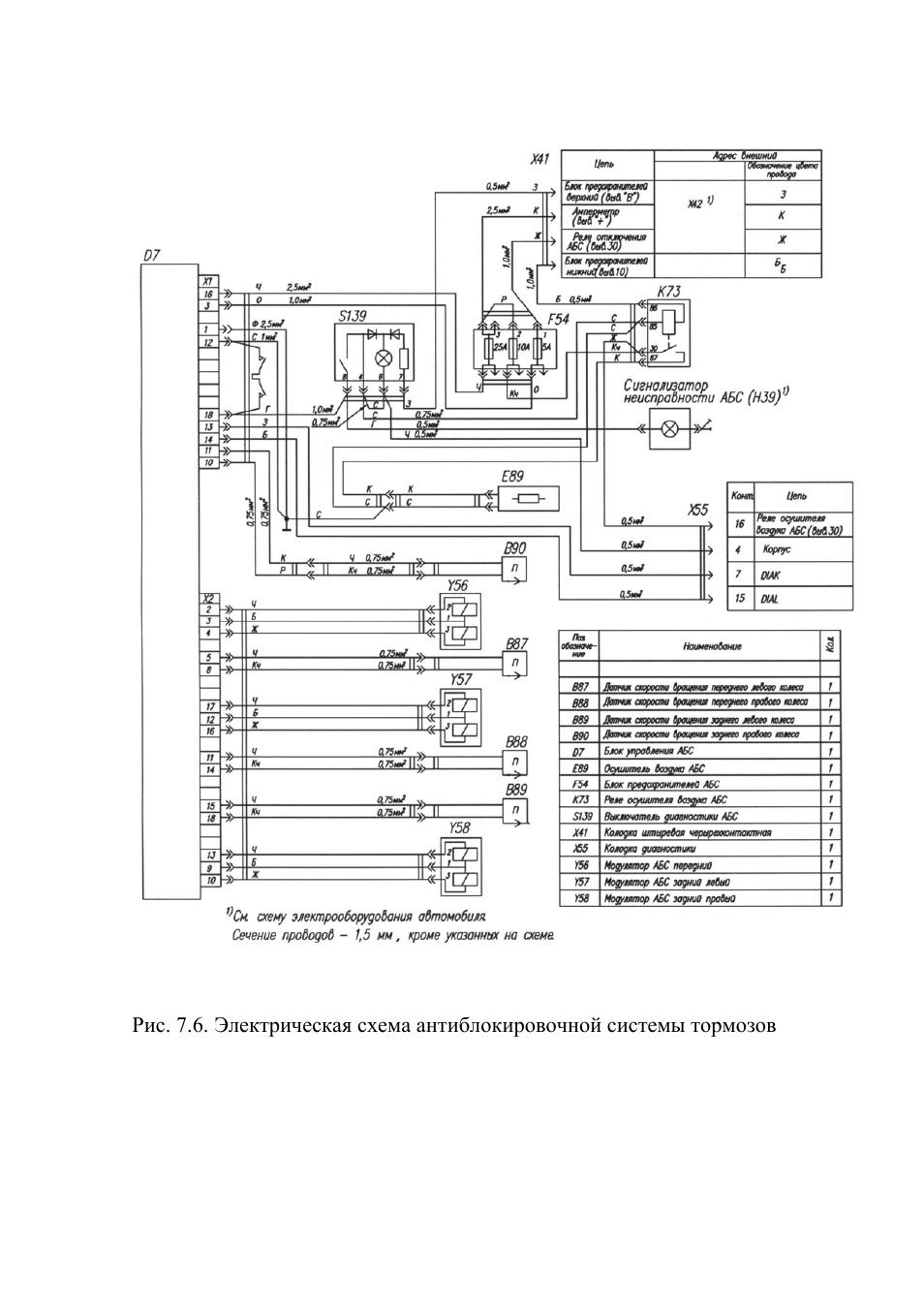 Электро схема газ 33081