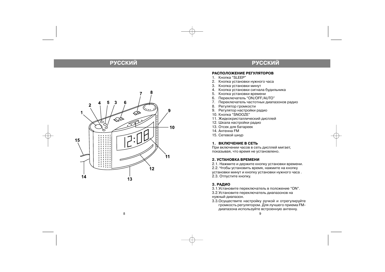 Часы радио vitek vt 6601 схема