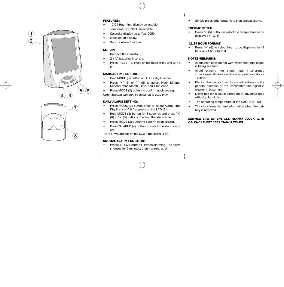 часы-будильники электронные витек3532 инструкция