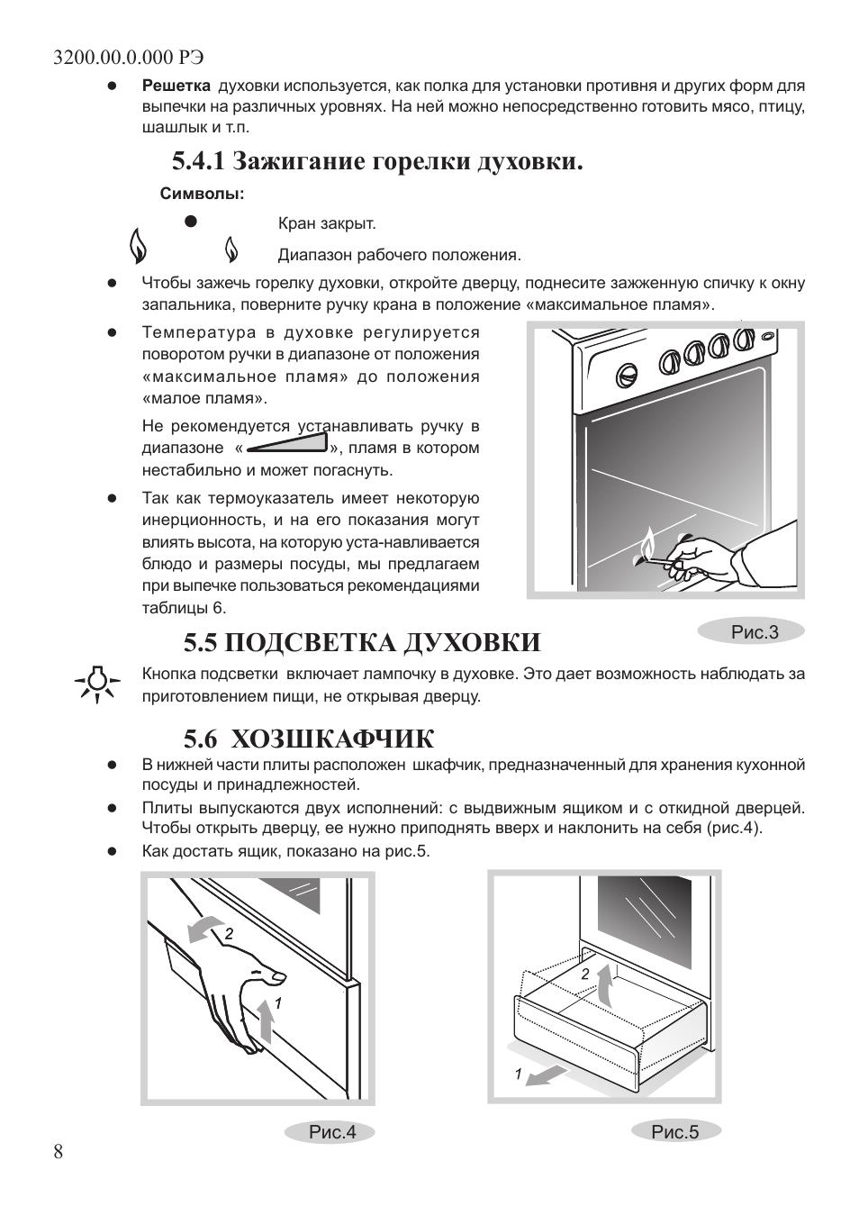 инструкция по плите крона