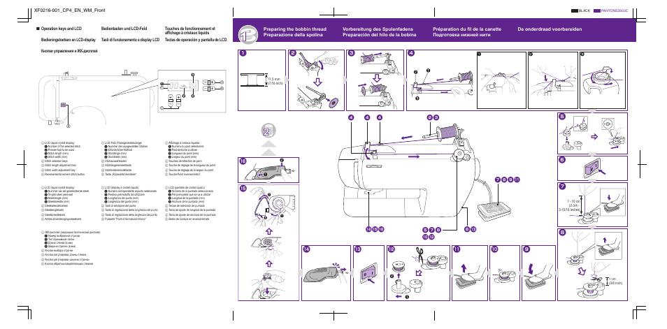 электрическая схема швейной машины brother xr4040