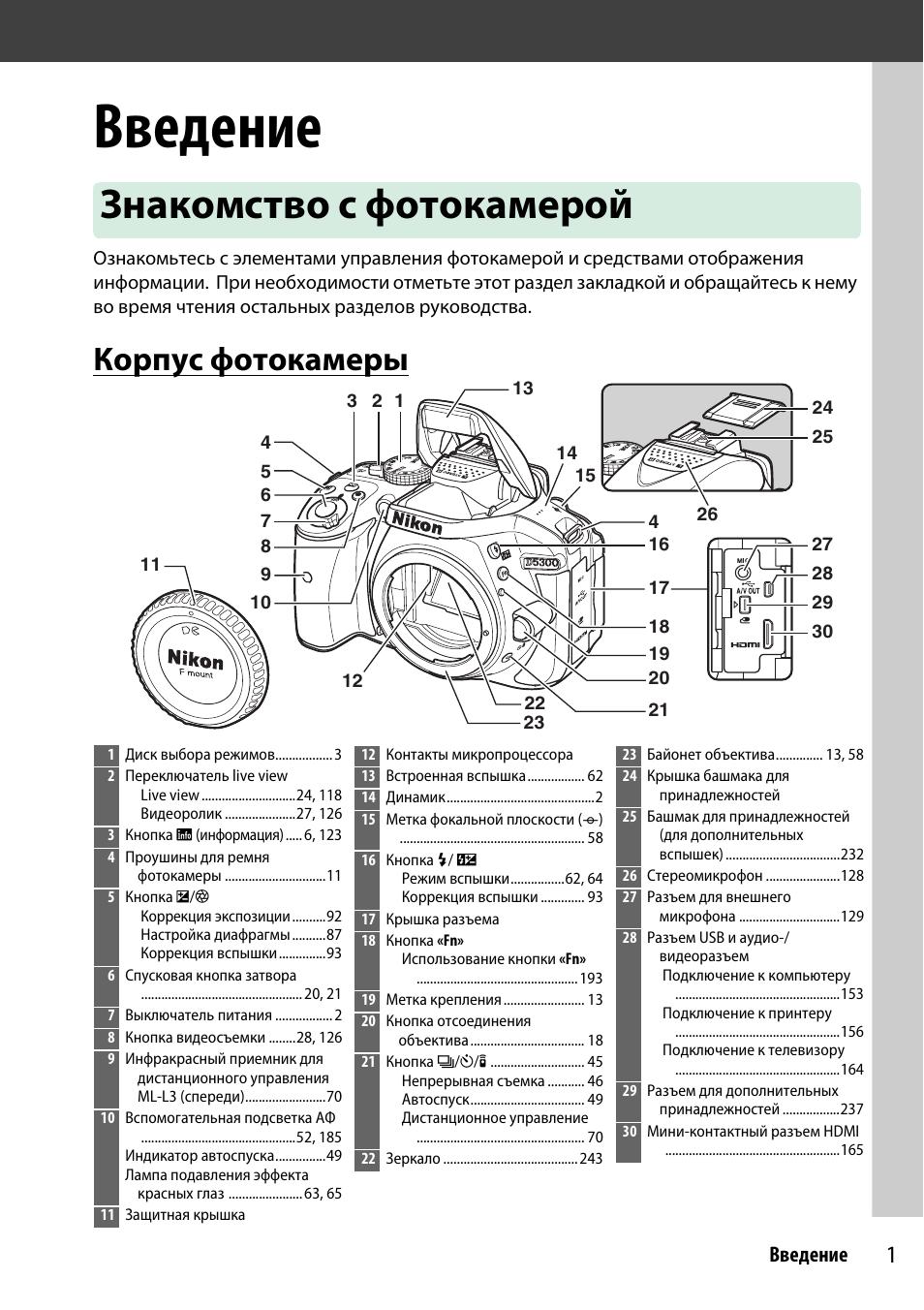 Инструкция по эксплуатации фотокамерой