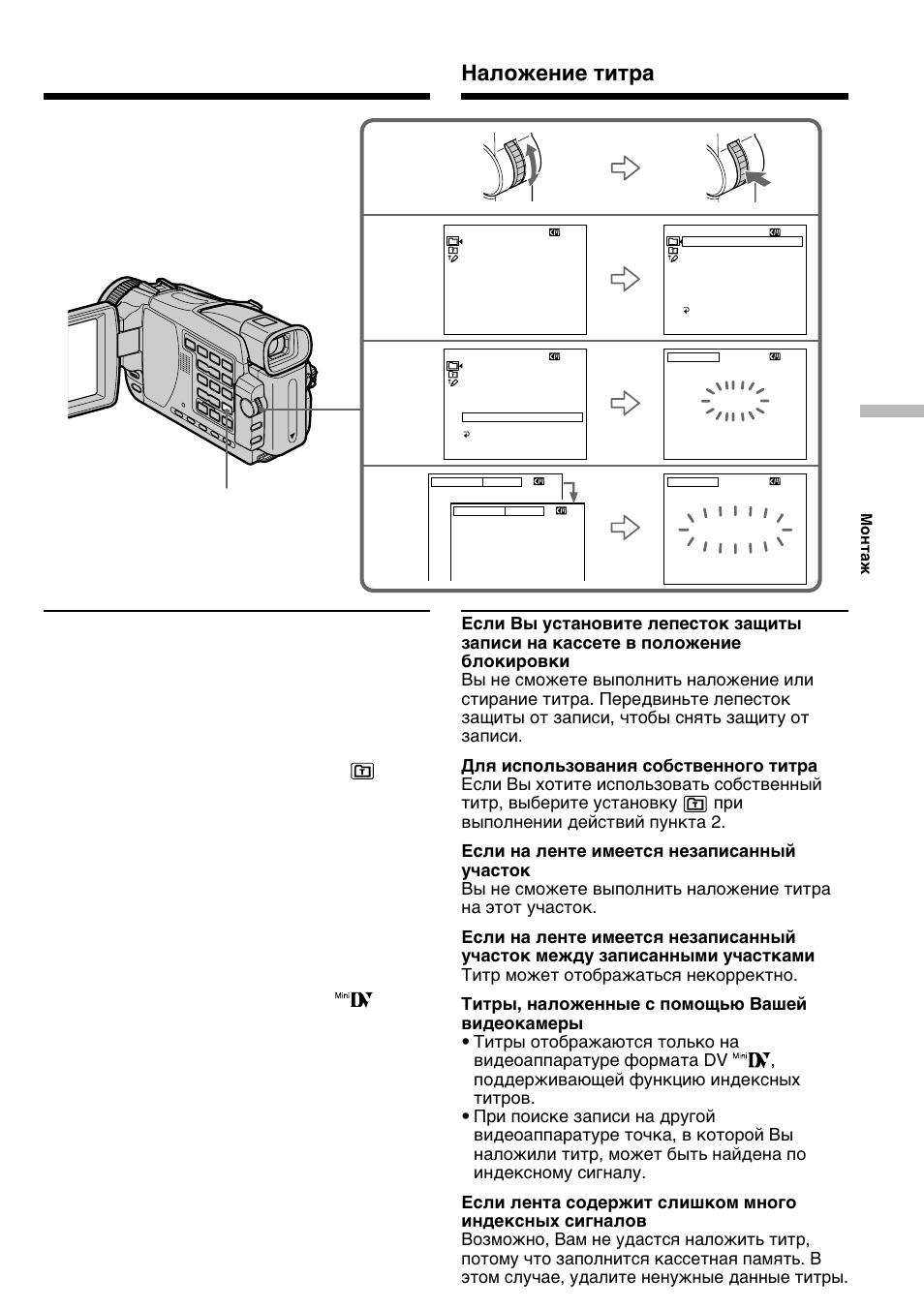 Инструкция по использованию видеокамеры dcr trv18e