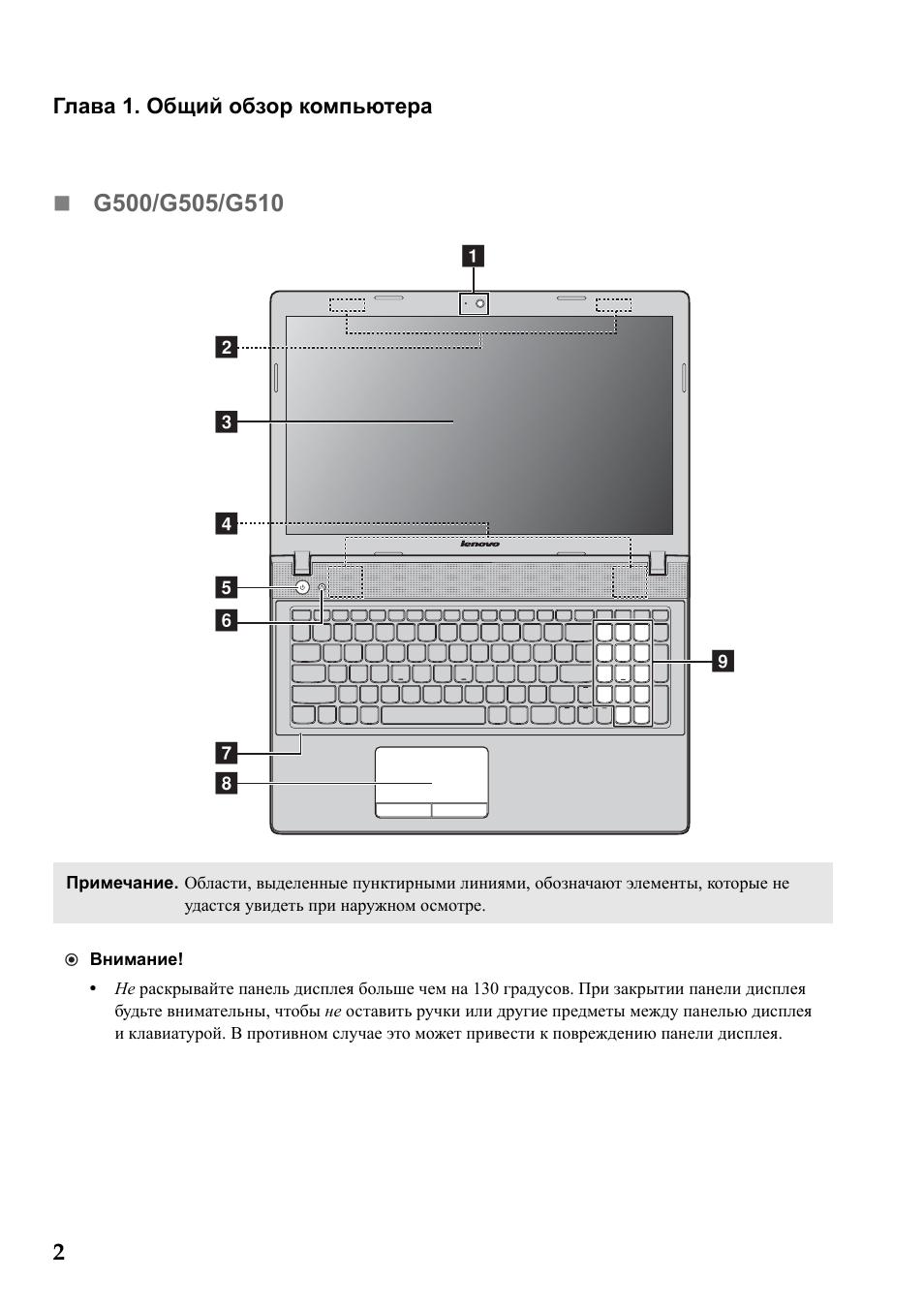инструкция по эксплуатации ноутбука леново g505