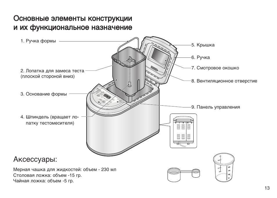 хлебопечка lg hb 205cj инструкция