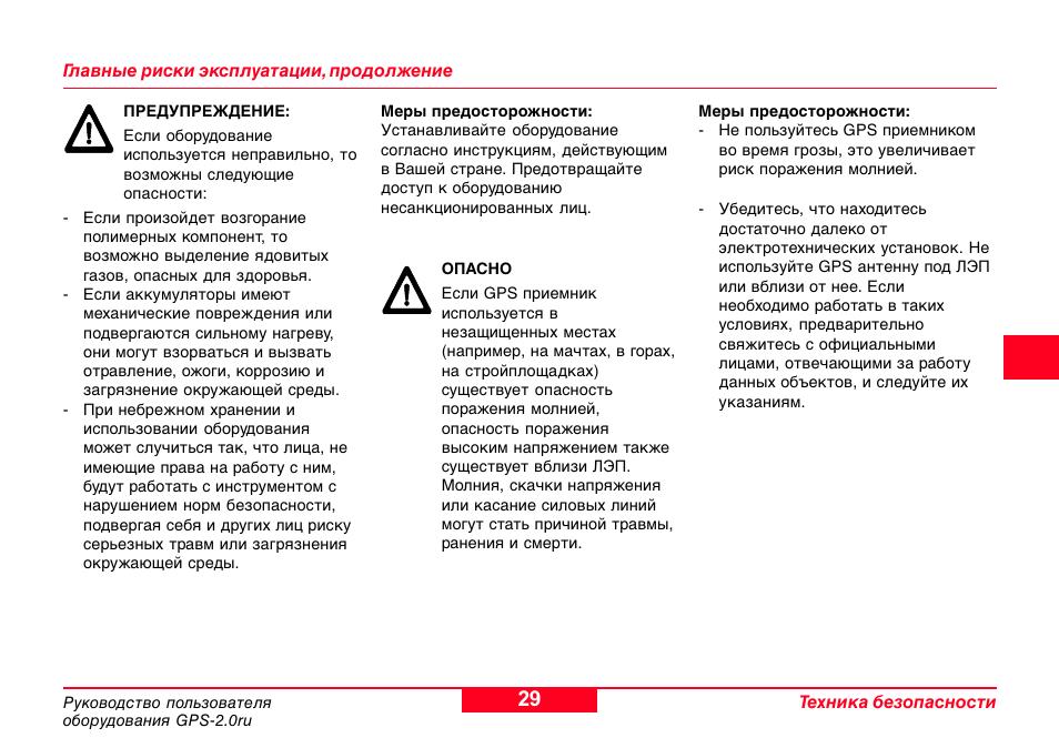 Инструкции по эксплуатации gps