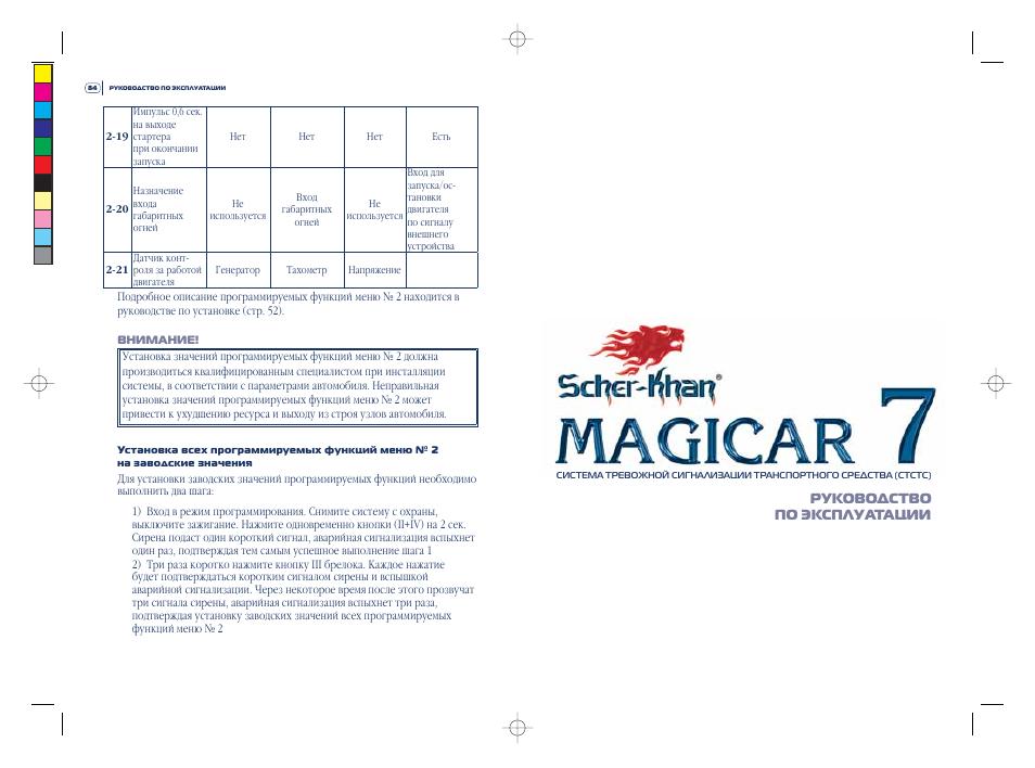 Scher-khan Magicar 6 инструкция по эксплуатации