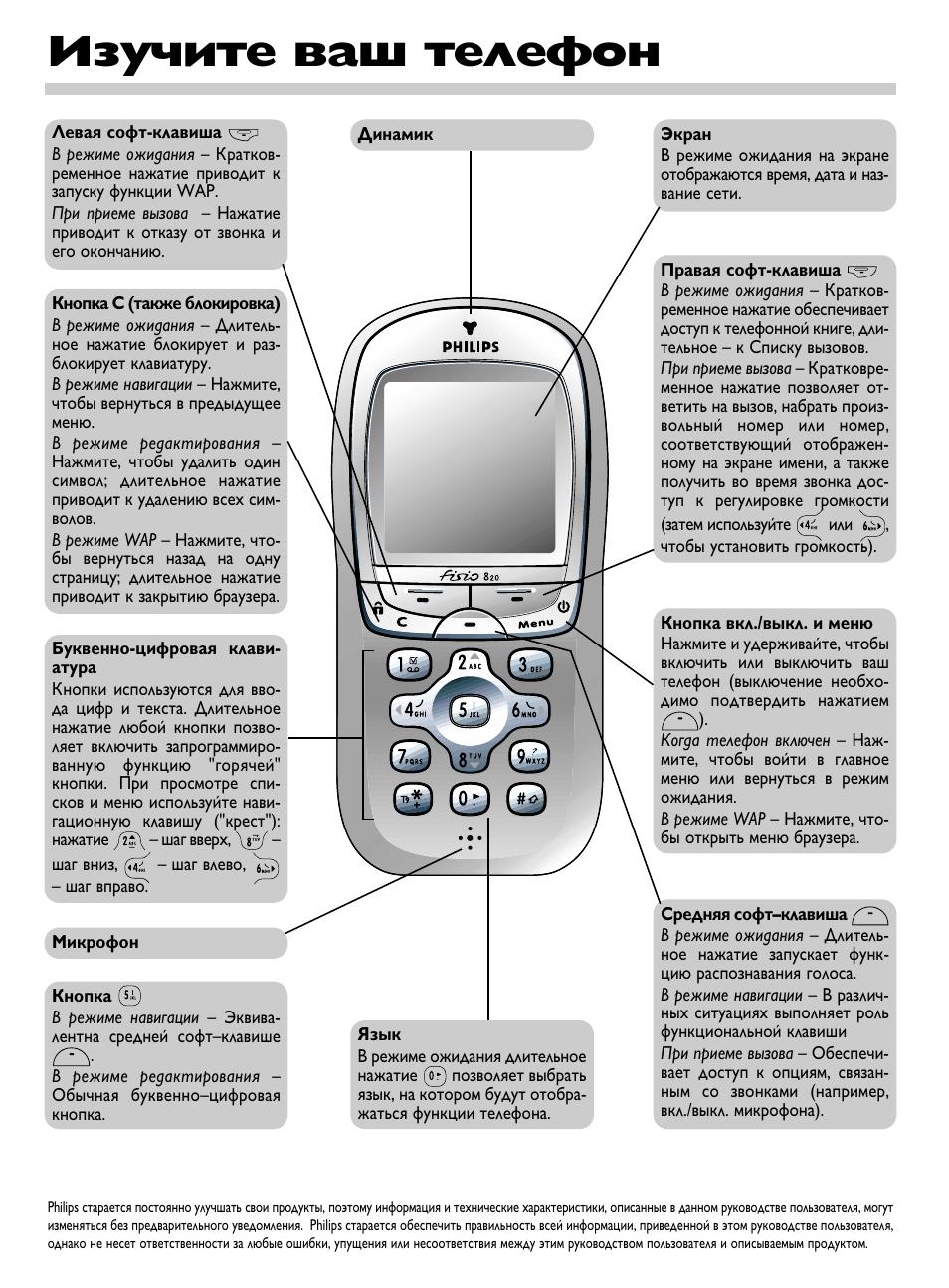 инструкция по эксплуатации телефона филипс е 570