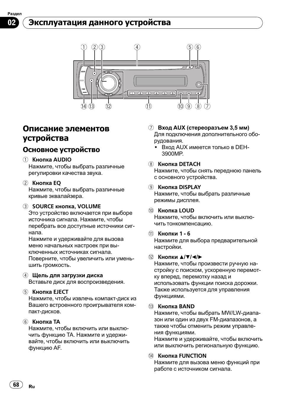 Pioneer deh-2900mpb схема подключение
