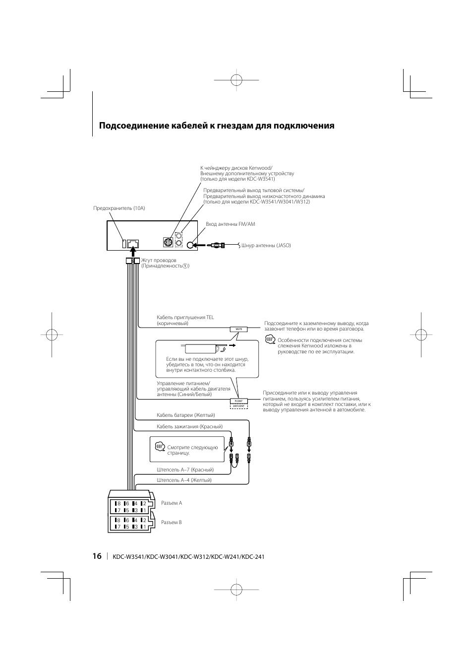 Инструкция kenwood kdc w3041