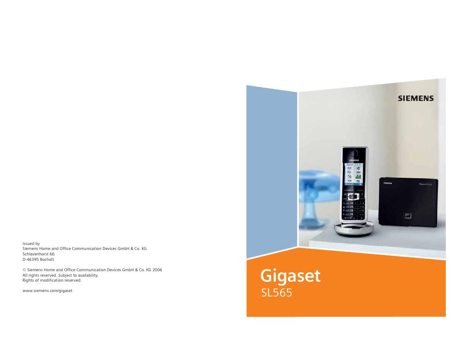 Siemens Gigaset Sl565 инструкция - фото 6