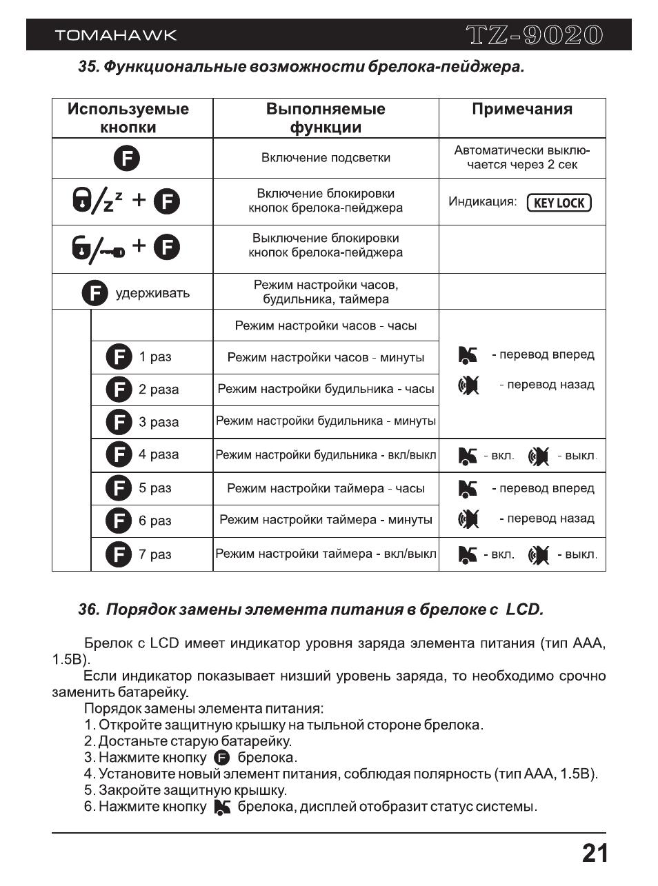 скачать инструкцию сигнализации томагавк 9.5