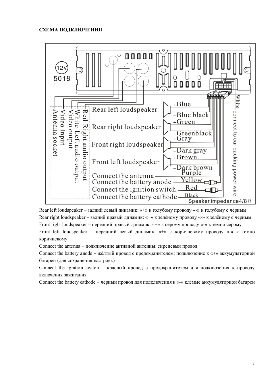 Схема автомагнитолы erisson