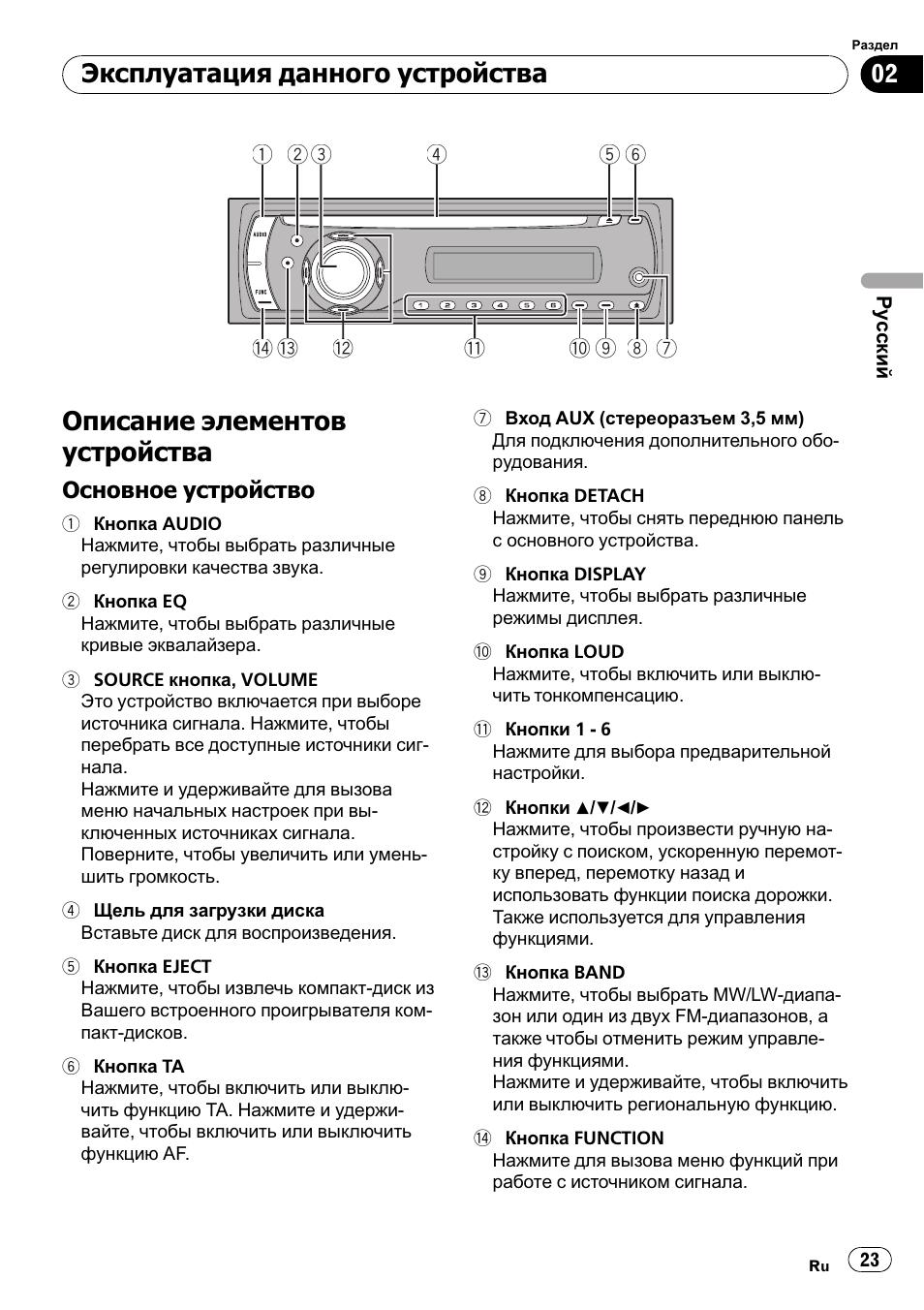 Автомагнитолы pioneer deh 2910mp схема подключения