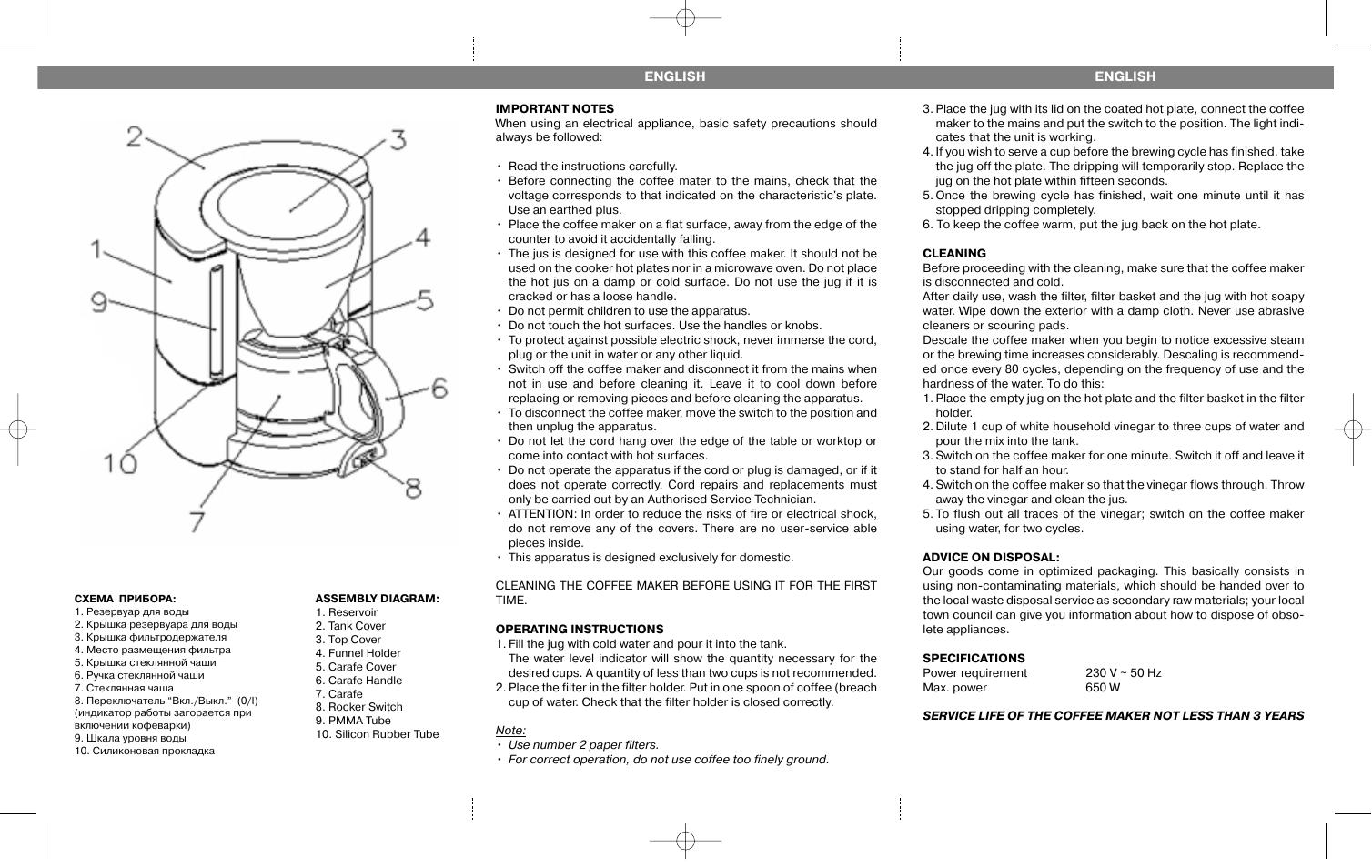Кофемашина vitek инструкция по применению