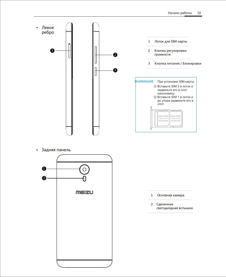 инструкция пользователя для meizu m3 note