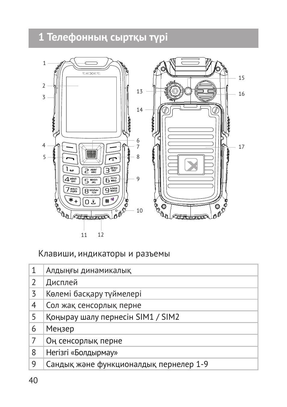 инструкция для телефона texet с большими кнопками