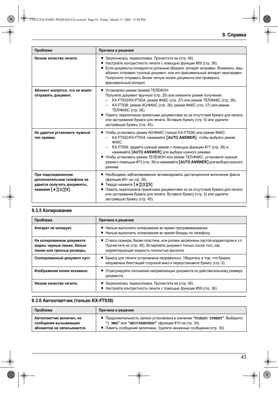 Kx ft938 panasonic инструкция